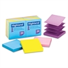 Self-Stick Pop-Up Notes, 3 x 3, Assorted Bright, 100-Sheet, 12/Pack