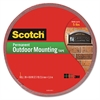 "Scotch Exterior Weather-Resistant Double-Sided Tape, 1"" x 450"", Gray"