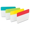 File Tabs, 2 x 1 1/2, Aqua/Lime/Red/Yellow, 24/Pack