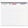 WIDE Landscape Format Writing Pad, College Ruled, 11 x 9 1/2, White, 40 Sheets
