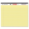WIDE Landscape Format Writing Pad, College Ruled, 11 x 9 1/2, Canary, 40 Sheets
