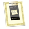Southworth Premium Certificates, Ivory , Fleur Gold Foil Border, 66 lb, 8.5 x 11, 15/Pack