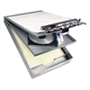 """Saunders Cruiser Mate Aluminum Storage Clipboard, 1 1/2"""" Clip Cap, 8 1/2 x 12, Silver"""