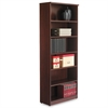 Alera Valencia Series Bookcase, Six-Shelf, 31 3/4w x 14d x 80 3/8h, Mahogany