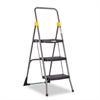 Cosco Commercial 3-Step Folding Stool, 300lb Cap, 20 1/2w x 32 5/8d x 52 1/8h, Gray
