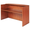 Alera Valencia Series Reception Desk w/Counter, 71w x 35 1/2d x 42 1/2h,  Cherry