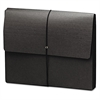 "Extra-Wide Five"" Exp Wallets, 12 3/8 x 10, Black, 10/Box"