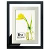 DAX Upper West Side Float Frame, Black/Brushed Aluminum, Wood, 4 x 6