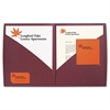 IMPACT Designer Two-Pocket Folder, 11 x 8-1/2, Burgundy, 5/Pack
