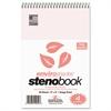 Enviroshades Steno Notebook, Gregg, 6 x 9, Pink, 80 Sheets, 4/Pack