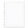 Blueline MiracleBind Quad Ruled Refill Sheets, 9-1/4 x 7-1/4, White, 50 Sheets/Pack