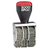 COSCO 2000PLUS Traditional Date Stamp, Six Years, 1 3/8 x 3/16""