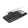 3M Sit/Stand Easy Adjust Keyboard Tray, Standard Platform, 25 1/2w x 12d, Black