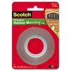 """Exterior Weather-Resistant Double-Sided Tape, 1"""" x 60"""", Gray"""