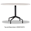 "Safco RSVP Series Standard Fixed Height Table Base, 28"" dia. x 29h, Black"