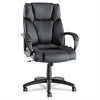 Alera Alera Fraze Series High-Back Swivel/Tilt Chair, Black Leather