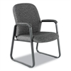 Alera Alera Genaro Series Guest Chair, Graphite Fabric, Sled Base