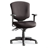 Alera Wrigley Pro Series Mid-Back Multifunction Chair w/Seat Glide, Black