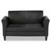 Reception Lounge Furniture, Loveseat, 55-1/2w x 31-1/2d x 32h, Black