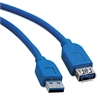 USB 3.0 Extension Cable, 6 ft, Blue