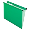 Pendaflex SureHook Poly Laminate Hanging Folders, Legal, 1/5 Tab, Bright Green, 20/Box