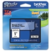 "Brother P-Touch TZe Standard Adhesive Laminated Labeling Tape, 1""w, Black on Clear"