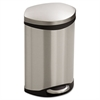 Safco Step-On Medical Receptacle, 3gal, Stainless Steel