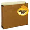 "Easy Grip File Pocket, Letter, 3 1/2"" Exp, Redrope, 25/PK"