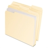 CutLess/WaterShed/Double Stuff File Folders, 1/3 Cut, Manila, Letter, 50/BX