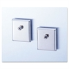 Universal Cubicle Accessory Mounting Magnets, Silver, Set of 2