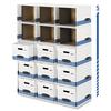 Bankers Box File/Cube Box Shell, Legal/Letter, 12 x 15 x 10, White/Blue