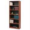 Safco Value Mate Series Metal Bookcase, Six-Shelf, 31-3/4w x 13-1/2d x 80h, Cherry