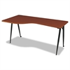 iFlex Series Full Table-Left, 65w x 31d x 29h, Cherry/Black