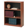 Value Mate Series Metal Bookcase, Three-Shelf, 31-3/4w x 13-1/2d x 41h, Cherry