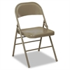 Cosco 60-810 Series All Steel Folding Chairs, Taupe, 4/Carton