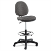 Interval Series Swivel Task Stool, Tone-On-Tone Fabric, Graphite Gray