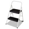 2-Step Folding Steel Step Stool, 200lbs, 17 3/8w x 18d x 28 1/8h, Cool Gray