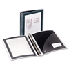"Flexi-View Binder w/Round Rings, 11 x 8 1/2, 1 1/2"" Cap, Black"