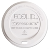 Eco-Products EcoLid Renewable & Compost Hot Cup Lids, Fits 10-20oz Hot Cups, 50/PK, 16 PK/CT