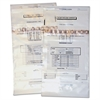 Coin Totes, Double Handle, 13 x 25, Clear, 100 per Pack