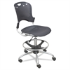 BALT Circulation Stool, Polypropylene Back/Seat, Black