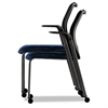 HON Nucleus Series Multipurpose Chair, Black ilira-stretch M4 Back, Mariner/Black