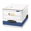 Bankers Box STOR/FILE Storage Box, Letter/Legal, 12 x 15 x 10, White/Blue, 12/Carton