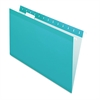 Reinforced Hanging Folders, 1/5 Tab, Legal, Aqua, 25/Box