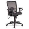 Etros Series Mesh Mid-Back Synchro Tilt Chair, Mesh Back/Seat, Black