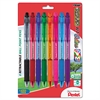 R.S.V.P. RT Retractable Ballpoint Pen, 1mm, Clear Barrel, Assorted Ink, 8/Pack