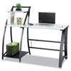 Xpressions Computer Workstation, 53-1/4w x 25-1/2d x 45-1/4h, Frosted/Black