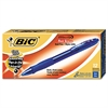 BIC Velocity Retractable Ballpoint Pen, Blue Ink, 1.6mm, Bold, Dozen