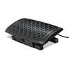 Climate Control Footrest, 16 1/2w x 10d x 6 1/2h, Black