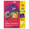 Dark Fabric Transfers for Inkjet Printers, 8 1/2 x 11, White, 5/Pack